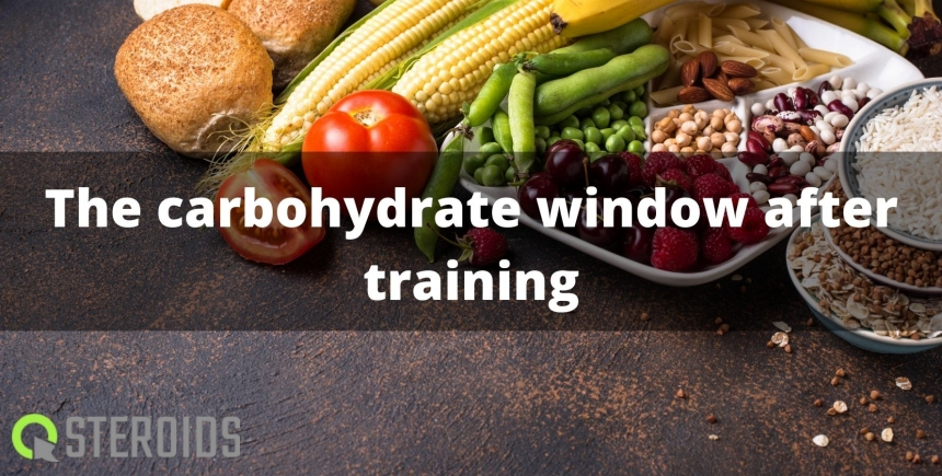 The carbohydrate window after training